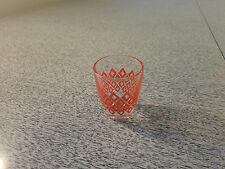 Vintage Red Glass Shot Glass with Fancy Design