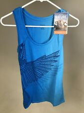 Icebreaker Women's TUI Bird Tech Lite Tank Top - BLUE - SMALL - NEW WITH TAGS