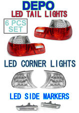 2001 BMW E46 M3 Coupe LED Red/Clear Tail +LED Clear Corner+LED Side Marker Light
