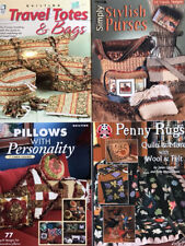 4 Sewing/Quilting Books & Leaflets 70+ Different Pillows,Purses,Quilt Patterns+