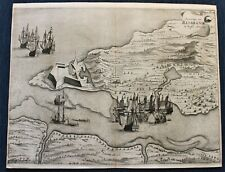 BRAZIL RIO GRANDE 1633 DUTCH CONQUEST ORIGINAL COPPER PLATE BY JAN COMMELIN