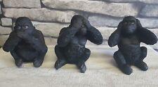 More details for nemesis now 3 wise gorillas 8cm ornaments