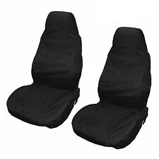 2x Universal Waterproof Nylon Front Car Van Seat Covers Protectors Black Pair BT