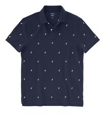 J.Crew Factory - Men's L Slim Fit - NWT - Navy Anchor Embroidered Pique Polo