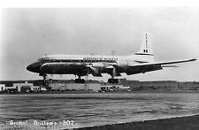 Postcard 873 - Aircraft/Aviation Real Photo Bristol Brittania 302