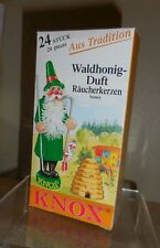 KNOX CHRISTMAS INCENSE CONES FROM GERMANY BOX OF 24 PCS... WILD HONEY SCENT