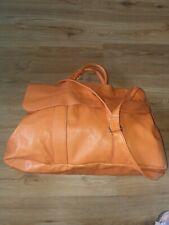 Lederhandtasche orange Echtleder