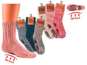Norweger-Socken mit Wolle für Kinder, Thermosocken, mit ABS