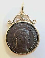 Constantius I, as Caesar( 306 - 337) Bi follis or nummus coin framed in 14K gold