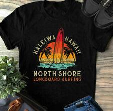 Haleiwa Hawaii Oahu North Shore Beach Longboard Surfing Gift t Shirt