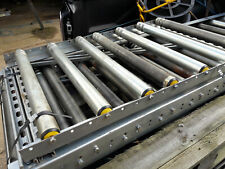 More details for 600mm wide x 2m long sections of 50mm dia steel gravity roller track used