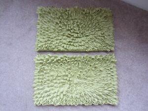 2 x Next 3D green felt rectangle cushion covers
