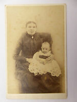 1880s Victorian Cabinet Card Photograph of Victorian Lady and Baby LAYBY AVA