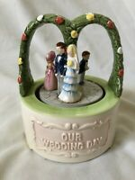 Vintage 1983 Ebeling & Reuss Our Wedding Day Music Box Wedding March JAPAN