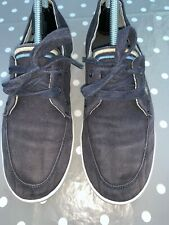 Fred Perry Pumps Trainers Or Shoes Blue Mens Size Uk 6.5 Holiday Ware Canvas