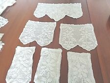 Antique Hand Crochet 9 pieces of chair upolstery protectors