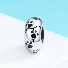 Fashion Paw Print Dog Prints Jewelry Footprint Pendant Solid 925 Sterling Silver