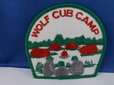 BOY SCOUTS WOLF CUB CAMP PATCH VINTAGE COLLECTOR BADGE