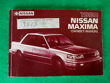 1988 88 Nissan Maxima Owners Manual,  B41B