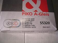 """Piko A-Gleis 55320 Gleis-Set C """"Bahnhofs-Set"""" Neuware."""