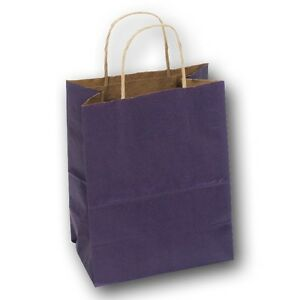 """50Pc Gift Bags Retail Gift Bags Wedding Party Bags ASSORTED Color Bag 8""""H"""