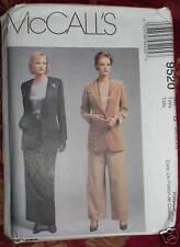 9520 Mccalls Patrón de Costura Misses Pantalón Traje 20-24 sin Cortar