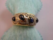 schöner Brillant Saphir Ring massiv Gold 750 modern