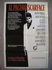 SCARFACE * 1983 ORIGINAL MOVIE POSTER 1SH RARE DECEMBER ADVANCE AL PACINO NM