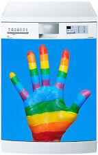 Sticker lave vaisselle déco cuisine électroménager Main couleur réf 571 60x60cm