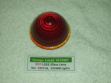 """Lucas Vintage L531 RED """"Glass"""" Lens (1) Beehvie Design"""
