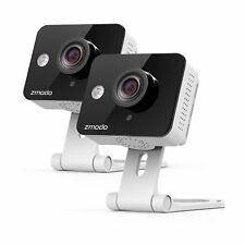 Zmodo 720P HD WiFi Wireless Smart Security Camera Two-Way Audio 2 Pack Night Vis