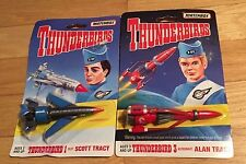 Matchbox Thunderbirds Scott Tracy & Alan THUNDERBIRD Blue Ship Diecast Toy  1994