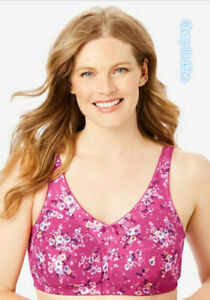 """Q3-4-5 US """"Comfort Choice"""" 100% Cotton Wire-Free Full Coverage Lightweight Bras"""