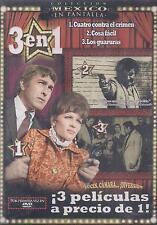 DVD - Cuatro Contra El Crimen NEW 3 En 1 Pedro Armendariz FAST SHIPPING!