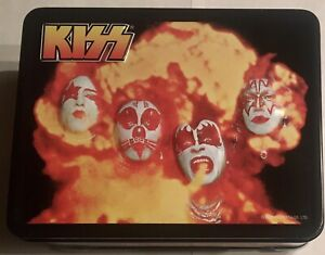 UNUSED KISS ORIGINALS LUNCHBOX & THERMOS DRINK CONTAINER Made in 2000 FREE SHIP