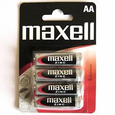 AA Batteries 4 Pack Maxell Zinc AA Batteries Free 1st Class Postage