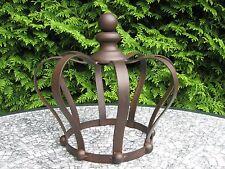 Gartenkrone Pflanzkrone *Rankhilfe Krone* Deko-Krone Eisen dunkelrostfarben 26cm