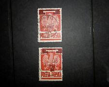 POLAND 1945 1.50z on 25g Overprint STAMP  Fine Used SG536 & 536a REF:919g
