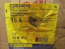 Square D 15 amp 240 volt 3 pole circuit breaker Catalog # Edb34015 *New in box*