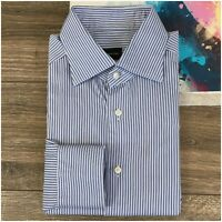 Recent Ermenegildo Zegna Mens Long Sleeve Shirt Size 16-41 Cotton Button Front