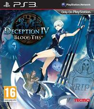 DECEPTION IV 4 BLOOD TIES PS3 * NUOVO SIGILLATO PAL *