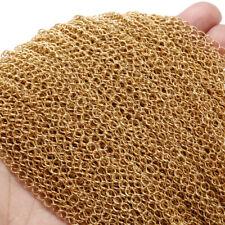 2Meters Gold Tone Stainless Steel Extender Soldered Curb Chain Link DIY Findings