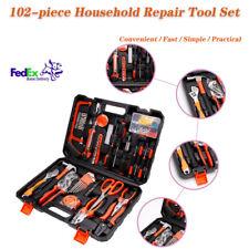 102pcs Household Repair Tool Set Auto Repair Appliances Room Door Screws clamp