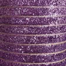 10mm Glitter Velvet Ribbon By The Metre - Quality 100% Nylon 20 Metallic Colours