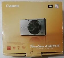 Canon PowerShot A3400 IS 16.0MP Digital Camera w/original box, charger, and case