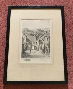 Vintage Picture Etching Print, The Church Loft High Wycombe Bucks J.E.Francis