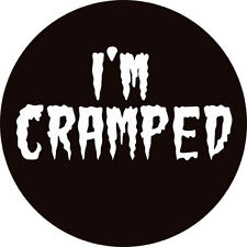 CHAPA/BADGE I'M CRAMPED . pin button the cramps poison ivy lux interior trash