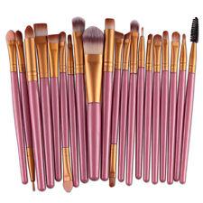 Pro Maquillaje 20 piezas Brochas Set Sombra De Ojos Delineador pincel Labios