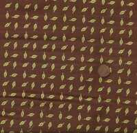 Chirp brown green leaves Kaufman fabric