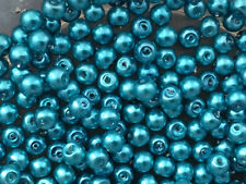 400+ Cristal Azul Turquesa Perlas. 4 mm. joyas rmaking, Artesanías